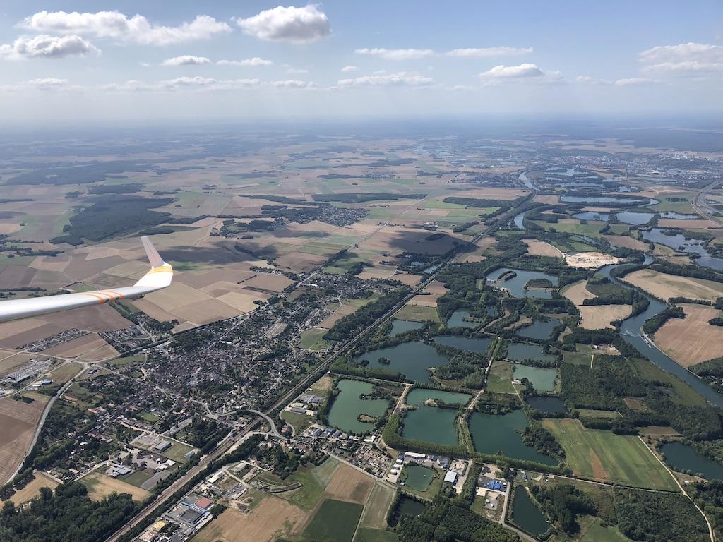 Vue aérienne de l'Yonne